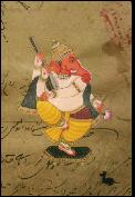 dancing ganesh 2 art greeting card