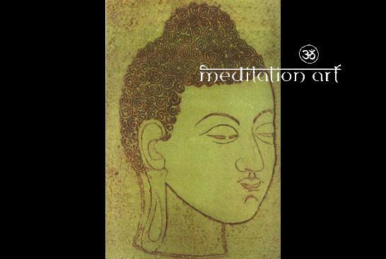 Buddha no 4 meditation art greeting card a fair trade art product 4 meditation art greeting card a fair trade art product by meditation art from indonesia m4hsunfo