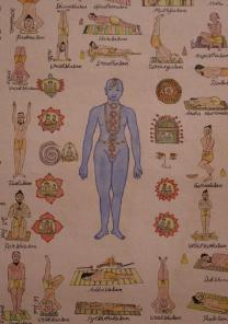 Yoga Asanas Hand Colored Poster Art Item5 Item7a1b2