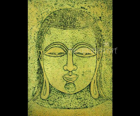 Buddha No 6 Original Signed Fine Art Lithograph Print From India